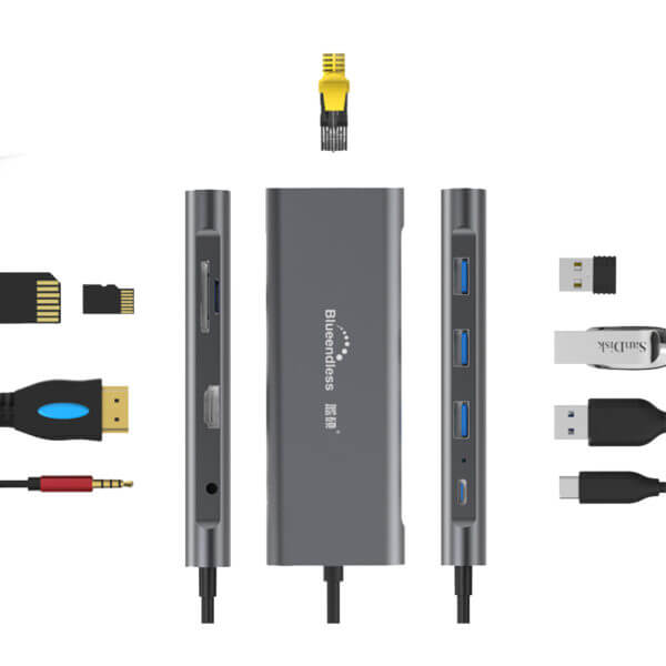 Adaptor Multiport Bluendless 9 in 1