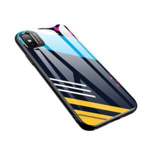 Glass Color Case iPhone X sau XS Pattern 2 Design placut