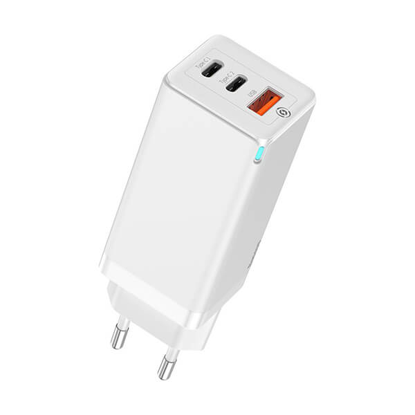 Baseus GaN Fast Charger Incarcator 65W QC3.0 PPS SCP FCP AFC Alb